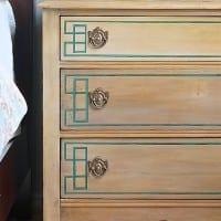 Geometric Dresser Makeover