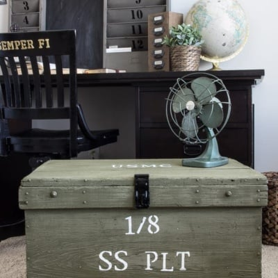 Vintage Military Foot Locker Makeover