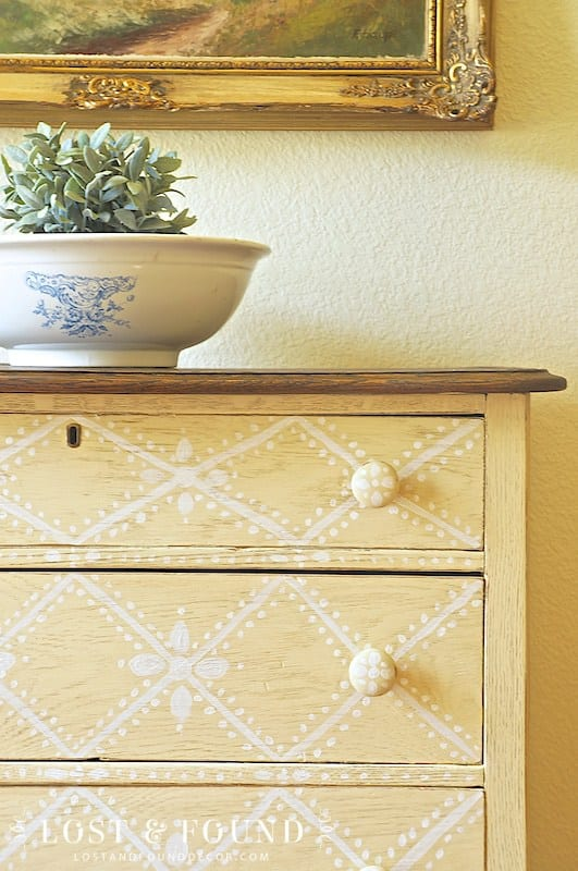 Geometric Dresser Makeover   Lost and Found Decor for blesserhouse.com