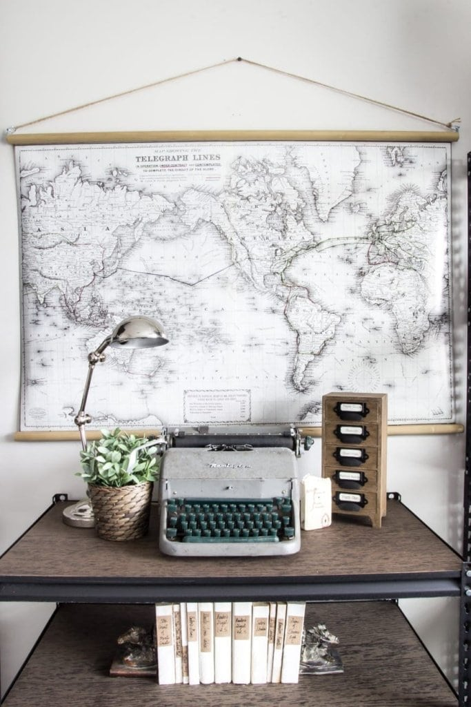 Diy vintage pull down map blesser house diy vintage pull down map blesserhouse great cheap alternative to the real gumiabroncs Gallery
