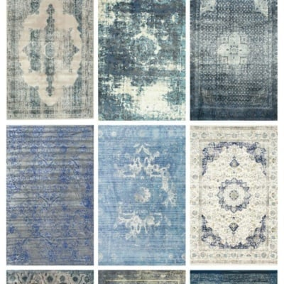 Favorite Budget Friendly Blue Vintage Rugs