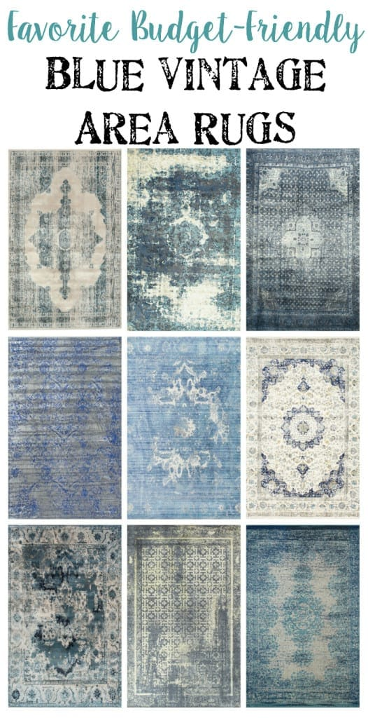Favorite Budget Friendly Blue Vintage Rugs | Blesserhouse.com   I Love How  All Of