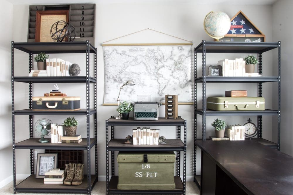 cheap office shelving. How To Style Industrial Shelves On The Cheap Blessu0027er House For Remodelaholic Office Shelving