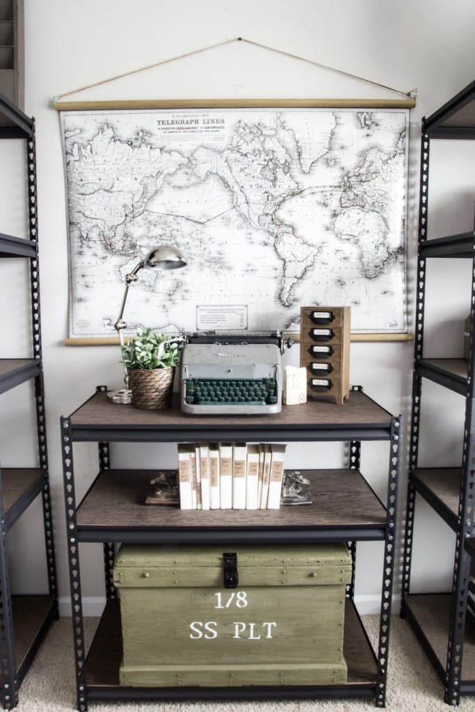 How to Style Industrial Shelves on the Cheap | Bless'er House for ...