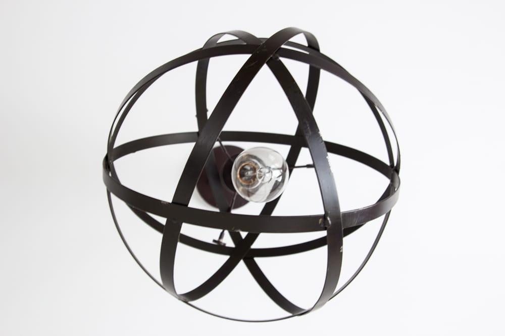 diy industrial orb pendant light