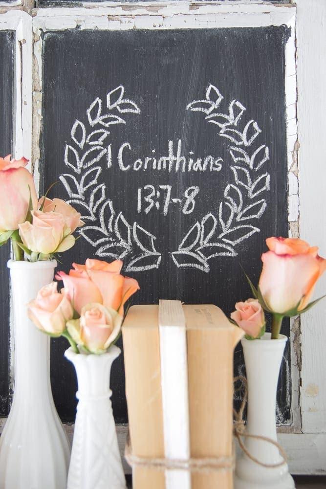 Valentine's Shelf Vignette + Free Printable | blesserhouse.com