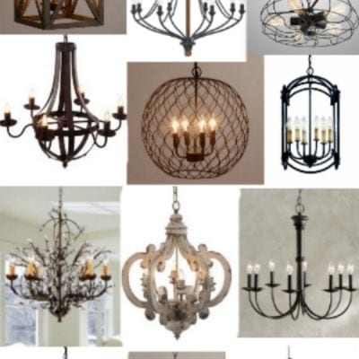 15 Industrial Farmhouse Chandeliers for a Tight Budget