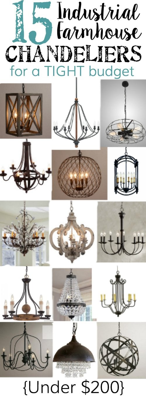 15 Industrial Farmhouse Chandeliers for a Tight Bud Bless er House