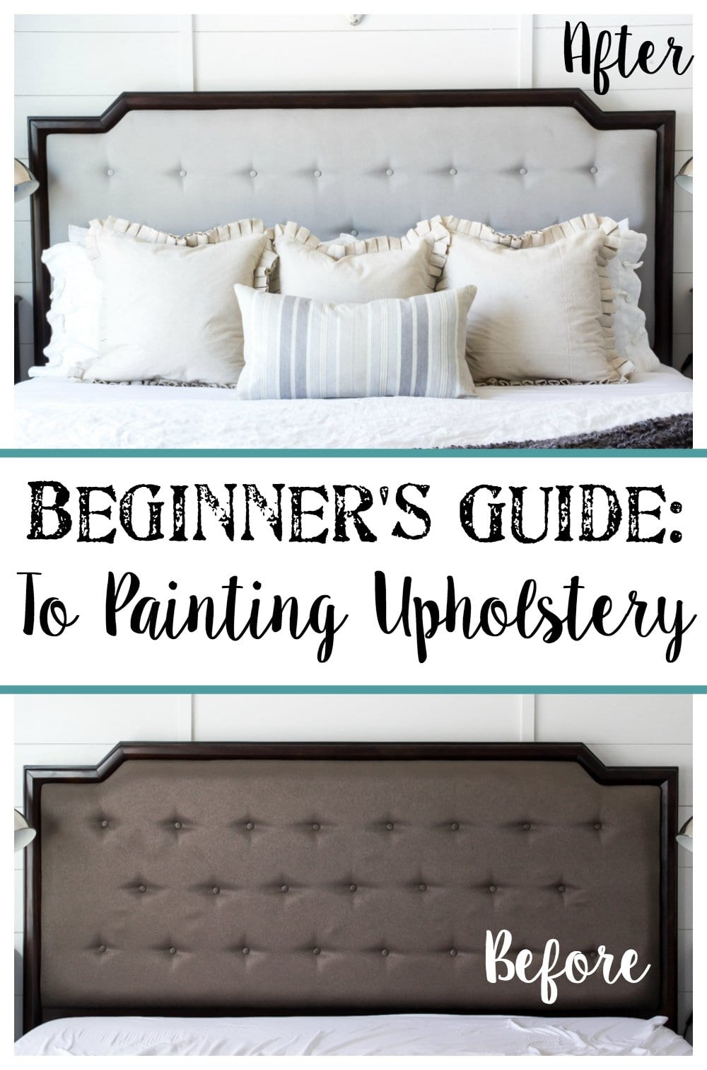 Beginner's Guide to Painting Upholstery | blesserhouse.com A simple tutorial for painting fabric furniture- This is so easy! Way better than upholstering furniture from scratch.