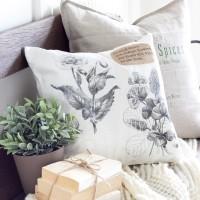 DIY Vintage Botanical Print Pillow
