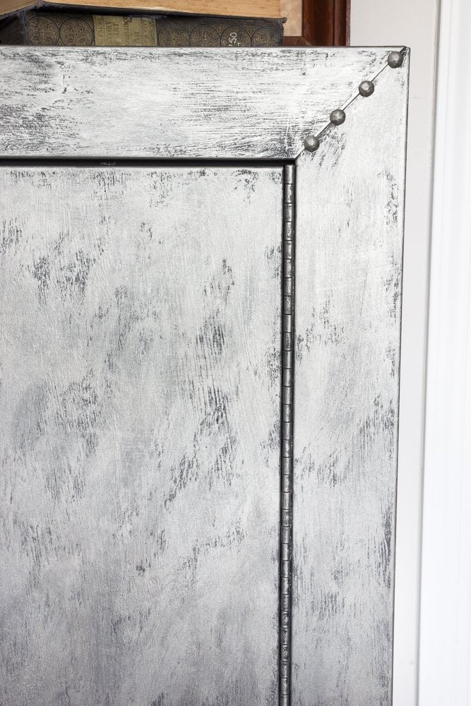 Faux Zinc Safe Makeover | blesserhouse.com