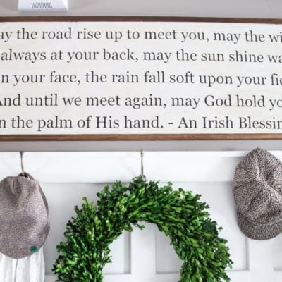 DIY Irish Blessing Sign and Entryway