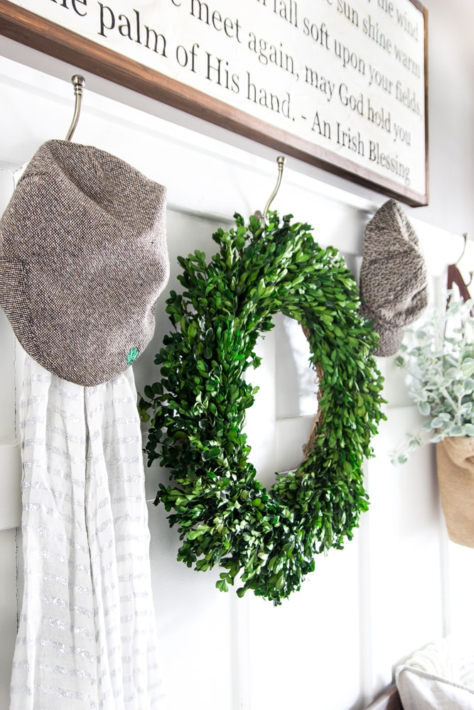 DIY Irish Blessing Sign and Entryway | blesserhouse.com - This is so cute! These farmhouse signs normally cost $150+!