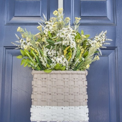 DIY Floral Door Basket and BIG NEWS!