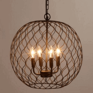 15 industrial farmhouse chandeliers for a tight budget blesser house bronze globe farmhouse chandelier mozeypictures Image collections