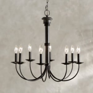 15 industrial farmhouse chandeliers for a tight budget blesser house 8 light black chandelier aloadofball Image collections