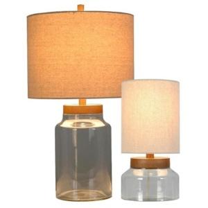 Fillable Glass Jar Lamp