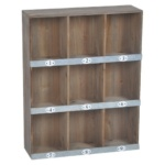 Industrial Cubby Shelf