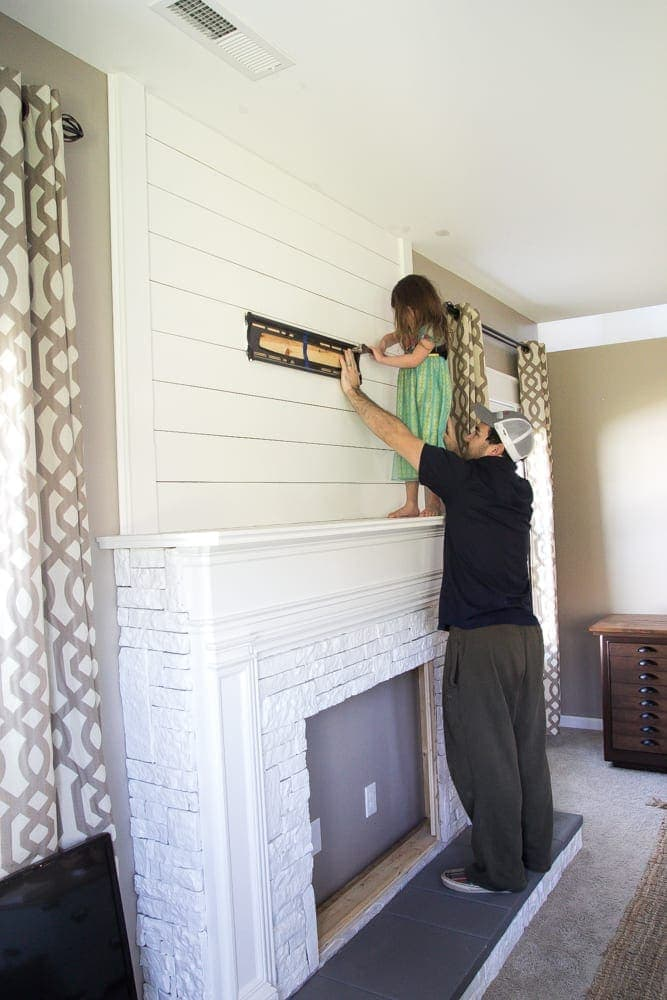 Fireplace Design faux fireplace : DIY Faux Fireplace Updated - Bless'er House