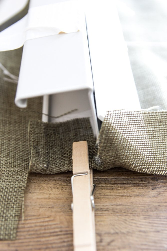 DIY Burlap Roman Shades from Blinds | blesserhouse.com - A beautiful way to  make