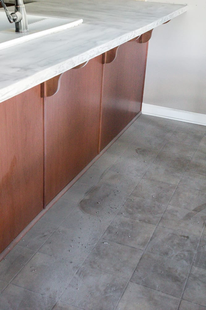 Diy Feather Finish Concrete Countertops Blesser House