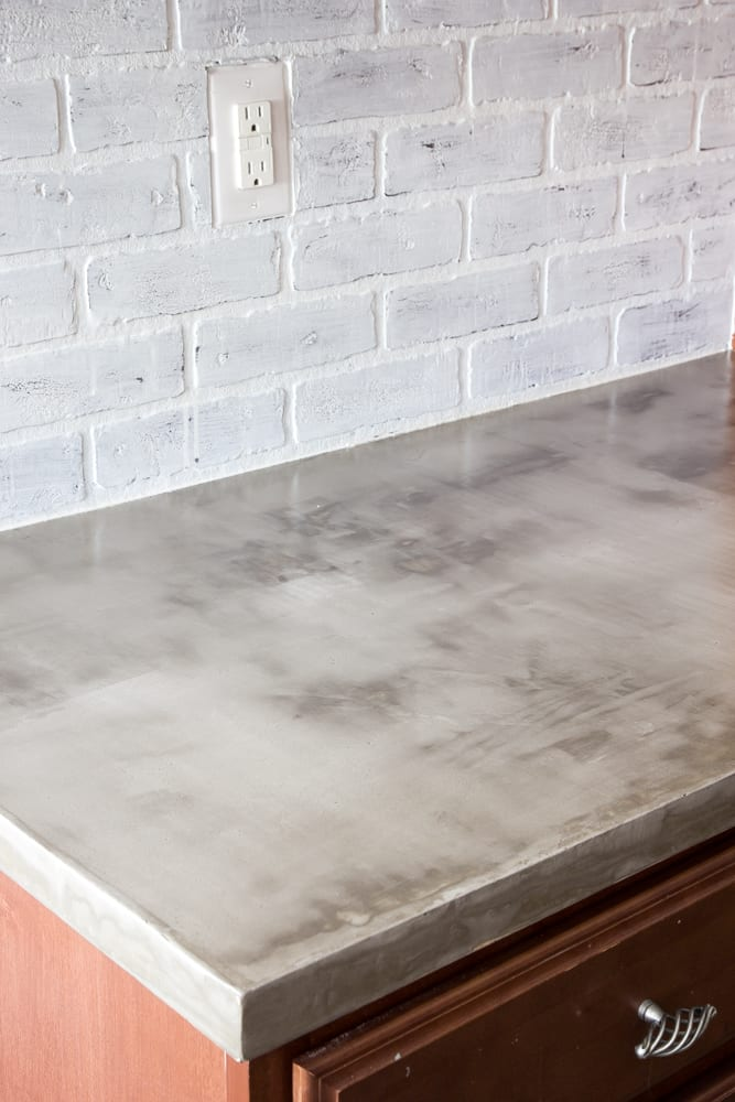 Diy Feather Finish Concrete Countertops Bless Er House