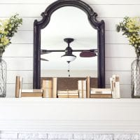 Distressed Charcoal Scroll Mirror Makeover