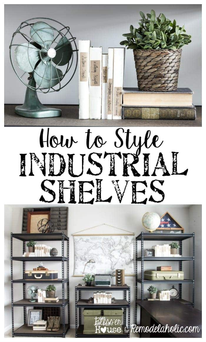 How To Style Industrial Shelves On The Cheap Bless 39 Er House