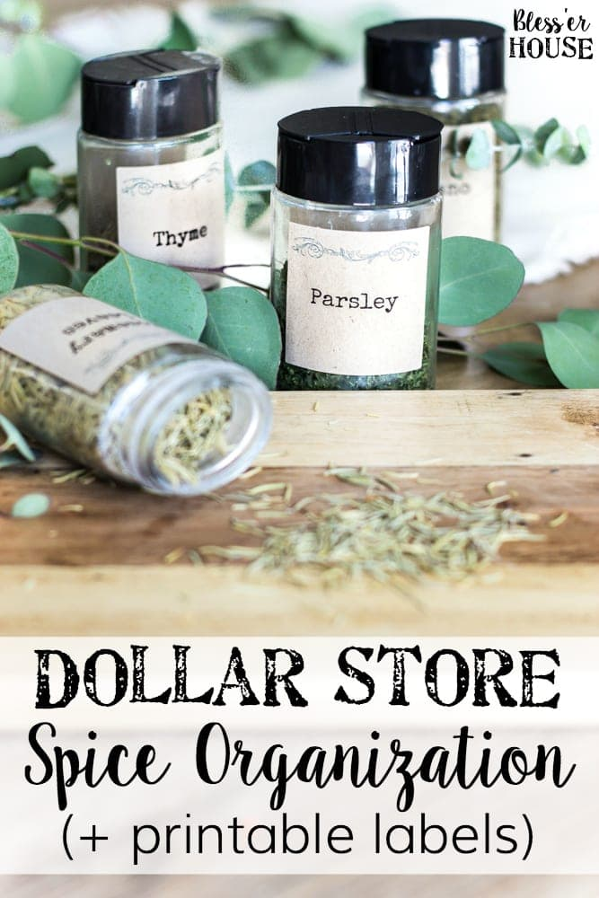 Dollar store spice organization and printable labels bless 39 er house Bless home furniture outlet