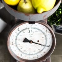 Faux Rusted Vintage Scale Makeover