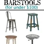 Modern Farmhouse Barstools for Under 100