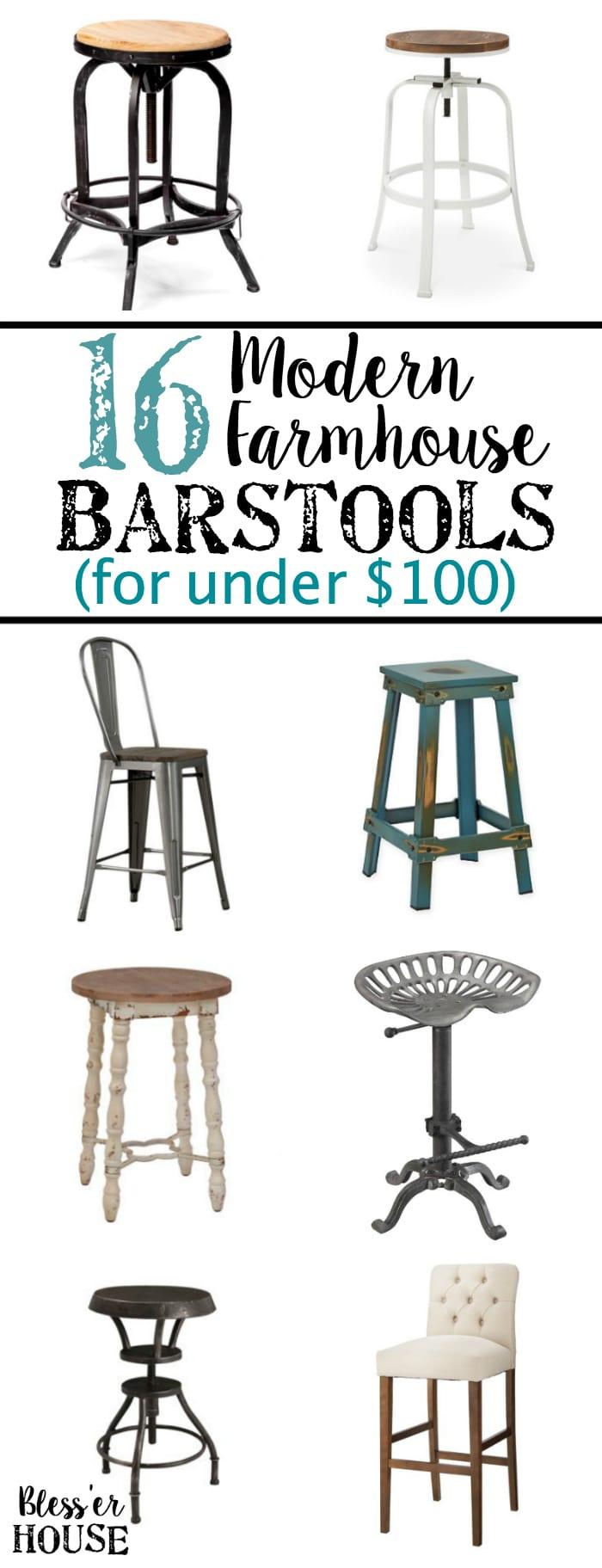 16 Modern Farmhouse Barstools for Under $100