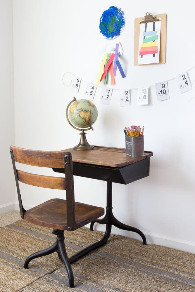 Back To School Style Guide Antique Schoolhouse Desk Makeover Simple Diy Homework