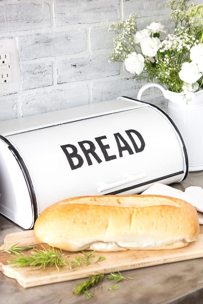 DIY Enamel Bread Box Makeover