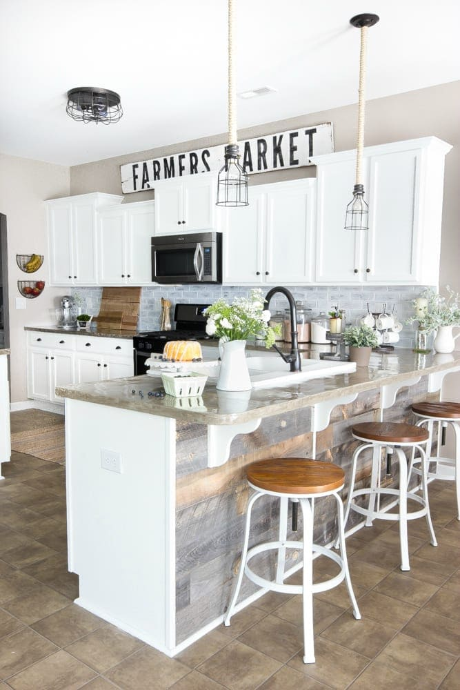 Modern Farmhouse Kitchen Makeover Reveal Blesser House