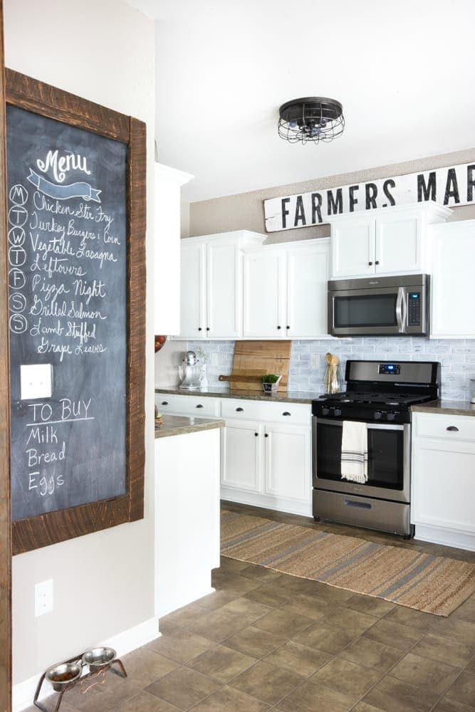 Modern Farmhouse Kitchen Cabinets modern farmhouse kitchen makeover reveal - bless'er house