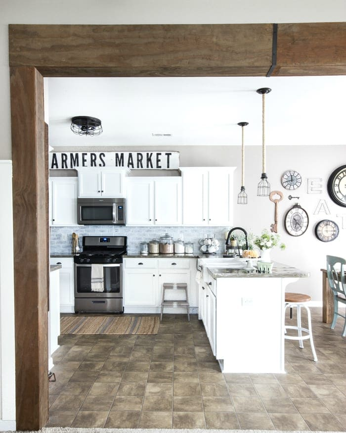 Farmhouse Kitchen modern farmhouse kitchen makeover reveal - bless'er house