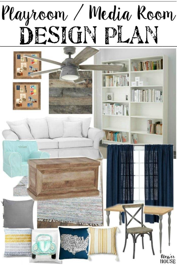Room Design Program: Playroom Media Room Design Plans