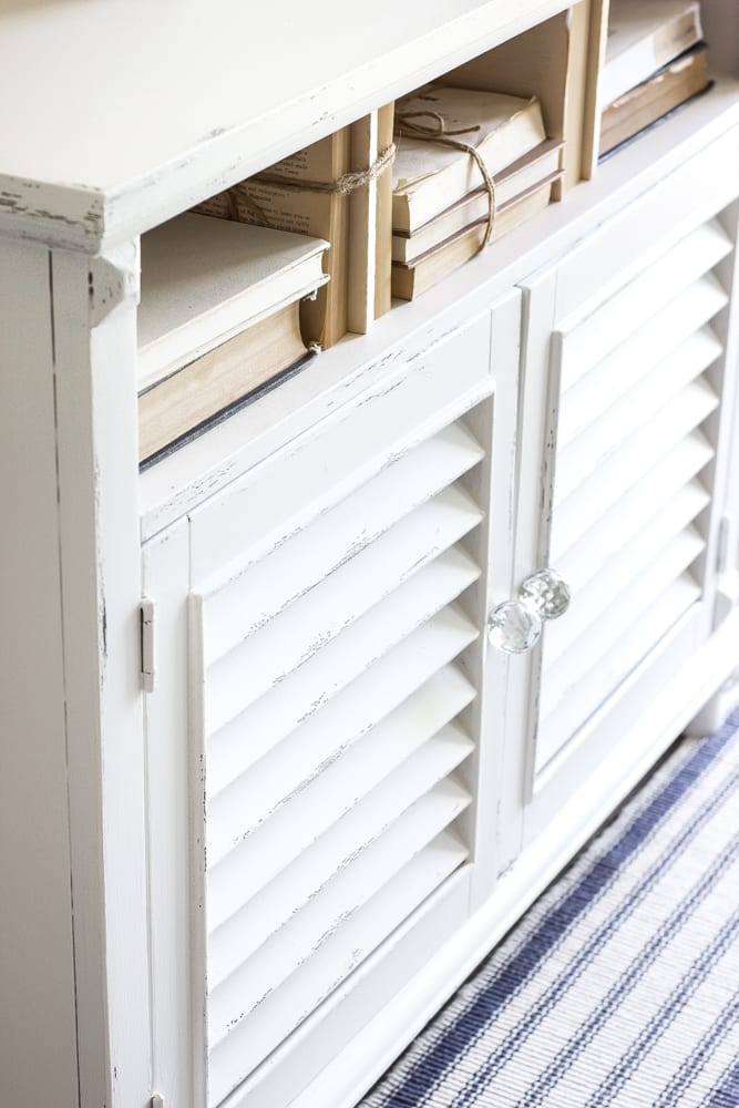 Cottage Style Shutter Cabinet Makeover | blesserhouse.com