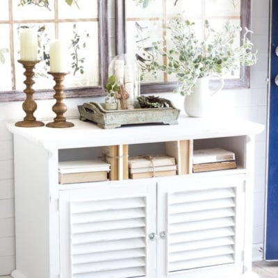 Cottage Style Shutter Cabinet Makeover