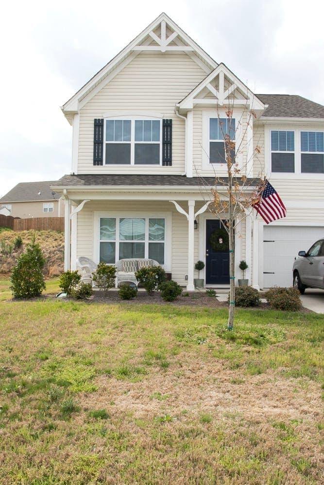Summer Porch and Yard Progress | blesserhouse.com