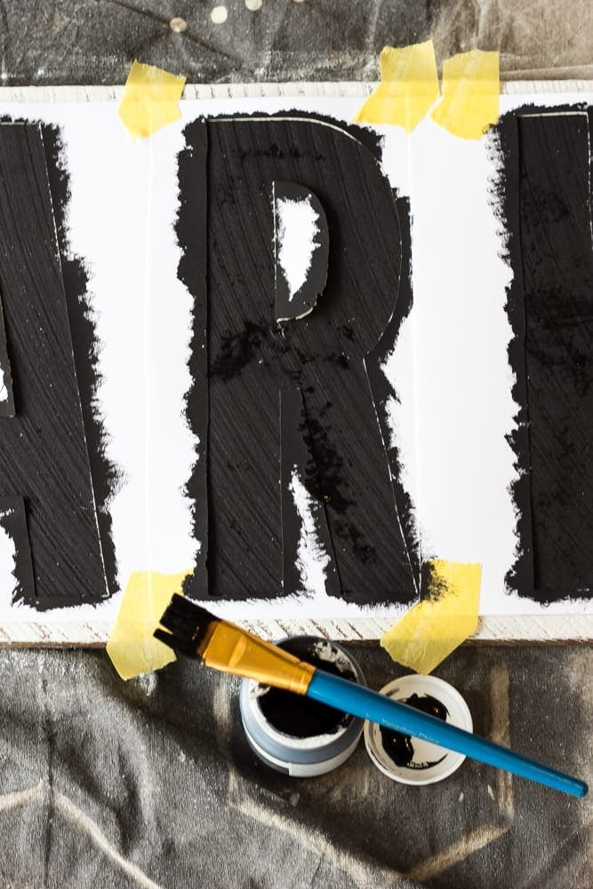 How to Make Painted Farmhouse Signs the Easy Way | Tutorial from Bless'er House on Remodelaholic.com