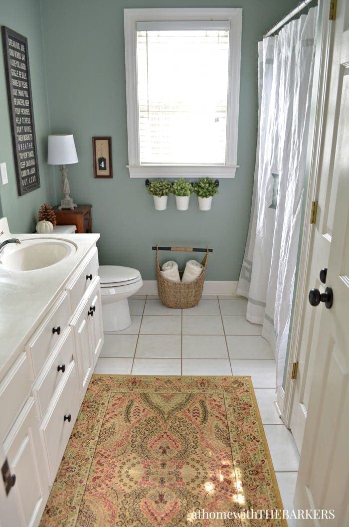 Change your space with paint from at home with the barkers bless 39 er house for Best paint to use in bathroom