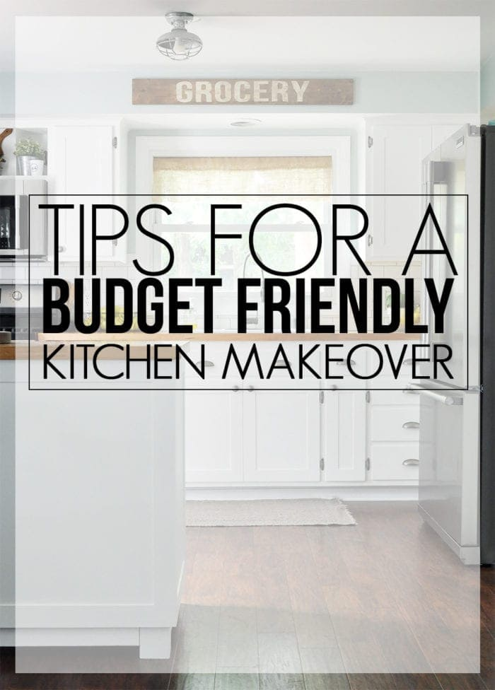 Planning a Kitchen Remodel? These tips for a budget friendly kitchen makeover will help.