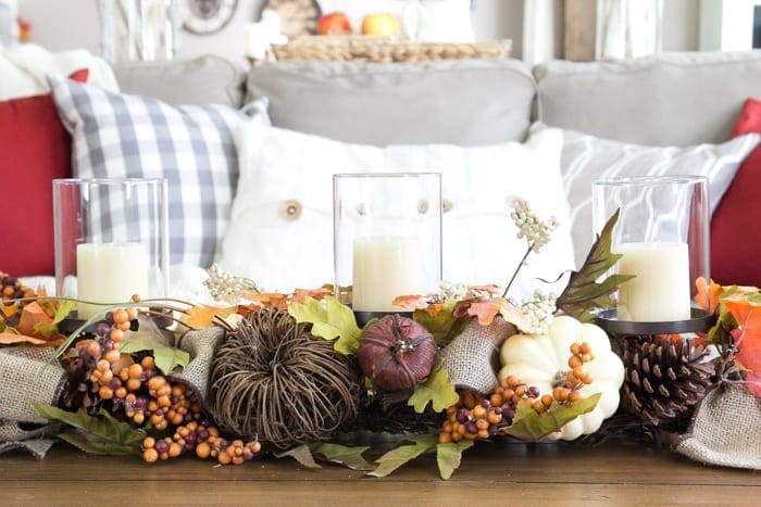 harvest living room decor and a giveaway blesserhousecom simple decorating ideas using - Home Decor Giveaway