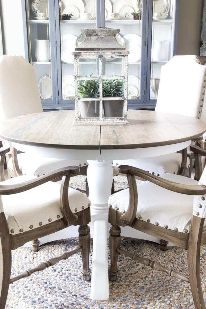 Weathered Oak Dining Table Makeover - Bless\'er House