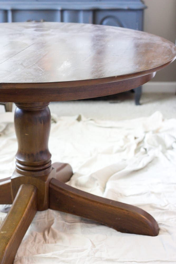 Brilliant Weathered Oak Dining Table Makeover Blesser House Download Free Architecture Designs Grimeyleaguecom