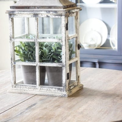 Weathered Oak Dining Table Makeover