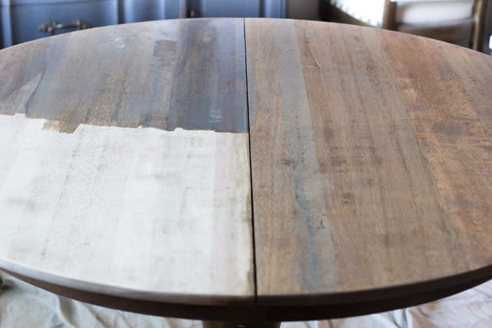 Weathered Oak Dining Table Makeover | Blesserhouse.com   A Thrifted Banged  Up Dining Table