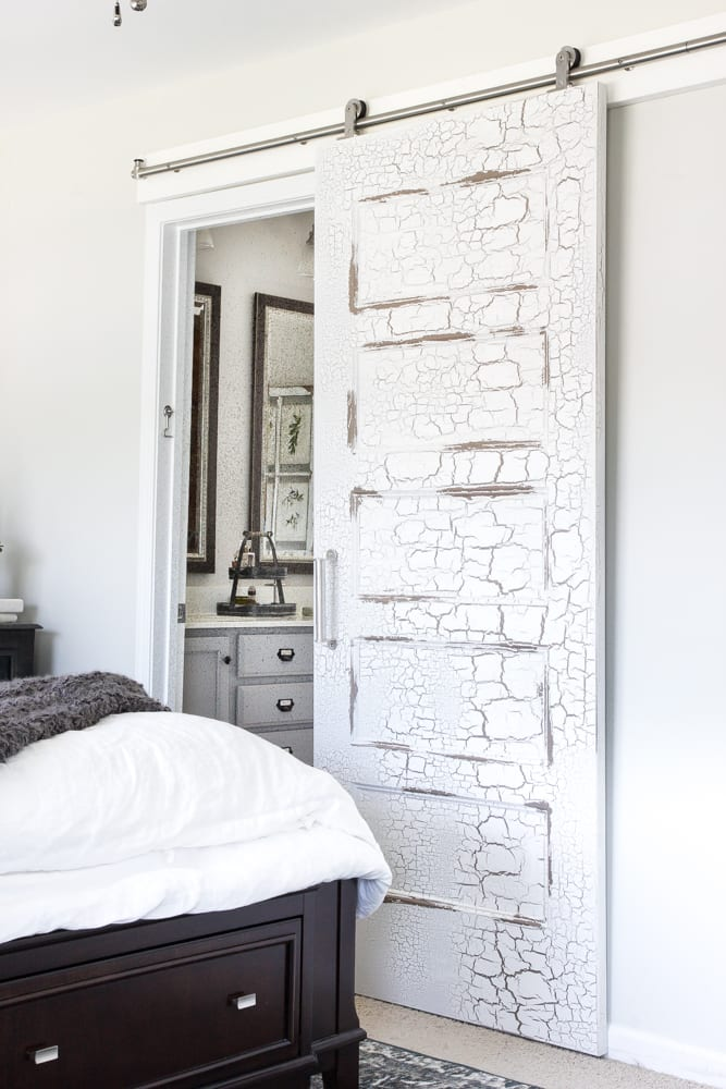 Rustic modern master bedroom reveal and sources bless 39 er for Bedroom barn door hardware